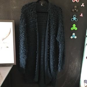 Teal Shag Sweater